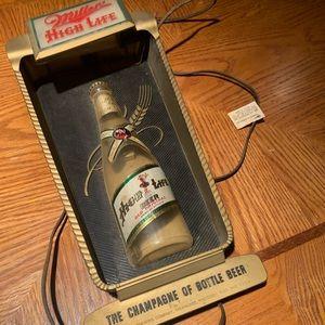 SOLD: Rare Vintage Miller High Life lighted sign